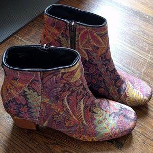 Hudson x Liberty of London paisley booties